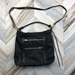 MZ Wallace Zoe Hobo Crossbody Gold Studded Bag